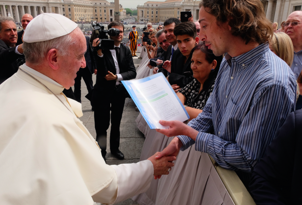 1 - GCCM petition presentation to Pope Francis