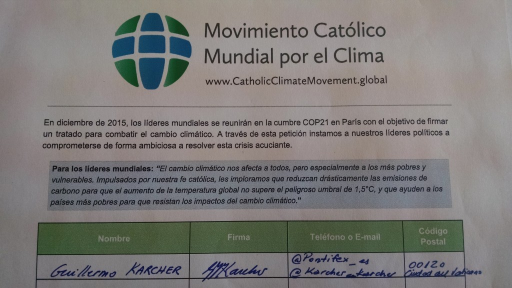 4 - Signature of Msgr Karcher on behalf of Pope Francis (note @pontifex_es)
