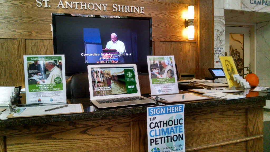 Petition Drive at St. Anthony Shrine, Boston, USA