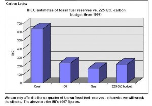 Only can afford to burn a quarter of fossil fuel reserves