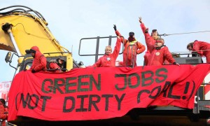 Green jobs not dirty coal